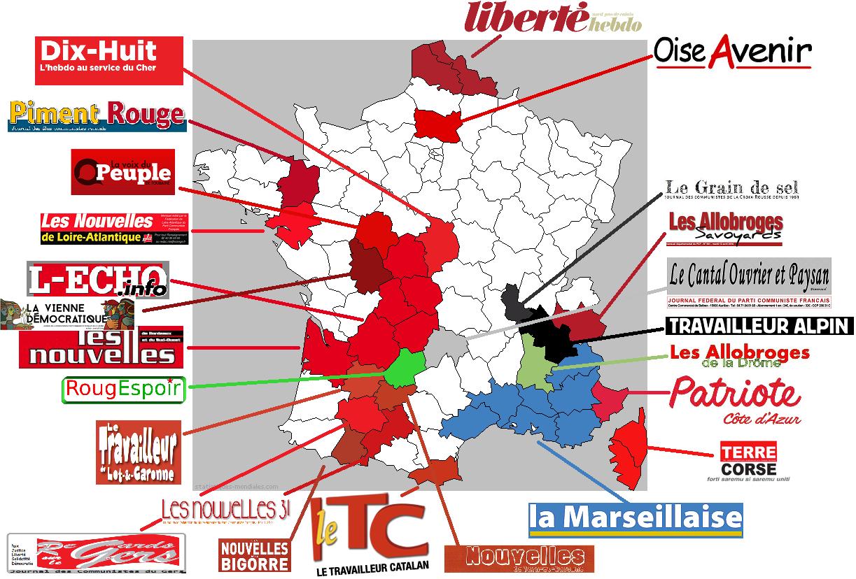 La presse communiste (et proche du PCF) en France