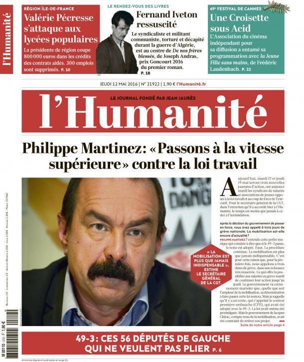 """Philippe Martinez: """"Passons à la vitesse supérieure"""" contre la loi travail"""