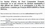 Municipales d'Istres: tract du PCF