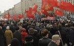 Manifestation communiste à Moscou contre l'OTAN