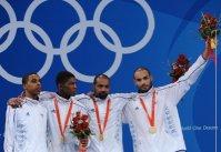 JO Pekin: les Français médaillés d'argent en vitesse sur piste