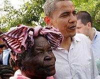 Barak Obama avec sa grand-mère