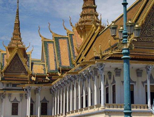 Le palais du roi Sihanouk à Phnom Phen
