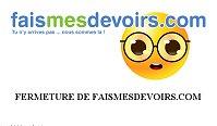 Fermeture du site faismesdevoirs.com