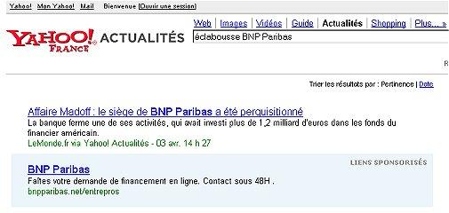 Madoff : le siège de BNP Paribas  perquisitionné