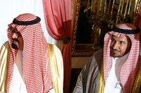 Le roi Saoudien Abdullah qui reçoit l'ordre du sourire, 06/07