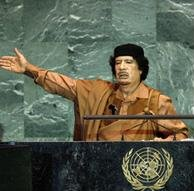 Kadhafi stigmatise les grandes puissances à l'Onu