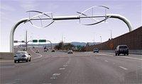 Projet d'éolienne sur autoroute aux USA