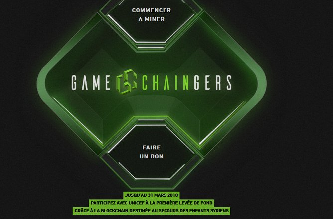 L'opération « Game Chaingers » de l'UNICEF