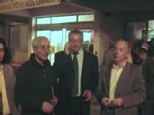 Le maire d'Istres entouré de Guy Queytan et Raymond Lattanzio