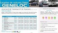 Véhicules: location voitures Dakar Sénégal