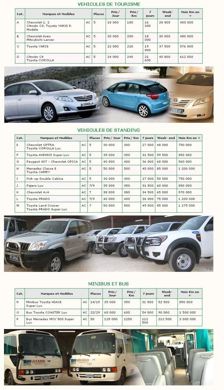 Location de voitures pas cher Dakar Senegal a