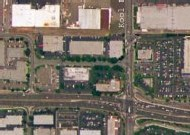 Vue d'un carrefour par satellite