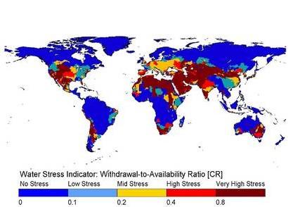 Carte du stress hydrique: les enjeux de demain