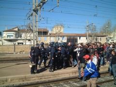 CPE, Blocage de la gare de Miramas