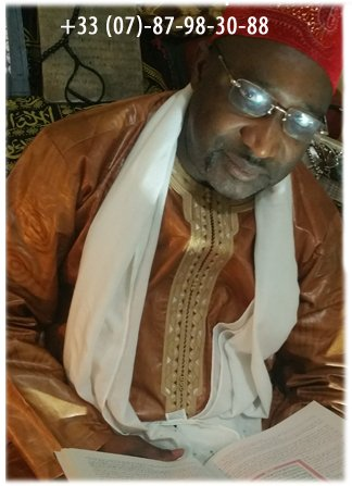 Hadj Oumar Ntaya medium voyant astrologue guérisseur en Bretagne 07 87 98 30 88