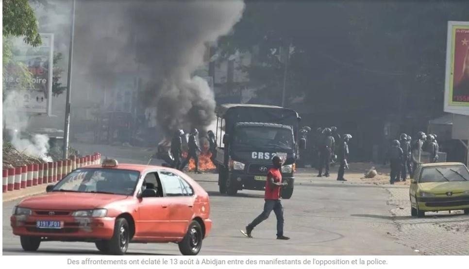 Cinq personnes tuées en Côte d'Ivoire après des manifestations