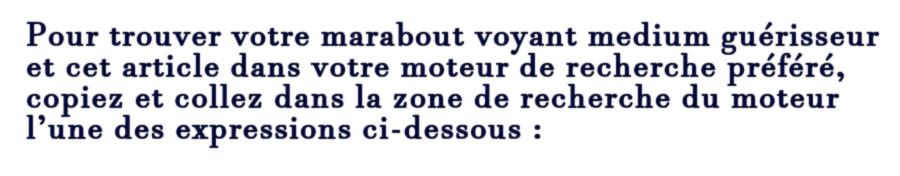 Babili: marabout d'amour pour la réconciliation des époux 95 Val-d'Oise