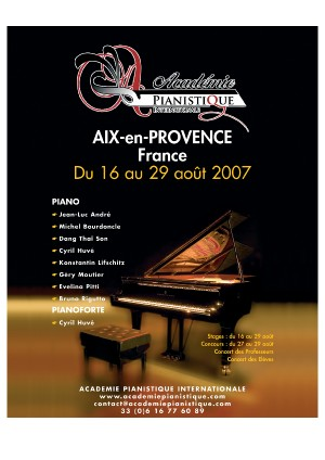 Aix-en-provence: l'Académie Pianistique Internationale