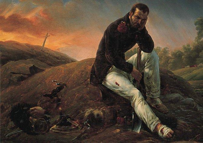 """Horace Vernet: Le soldat sur le champ de bataille décrit par Baudelaire comme """"cet art improvisé au roulement du tambour, ces toiles badigeonnées au galop, cette peinture fabriquée à coups de pistolet"""""""
