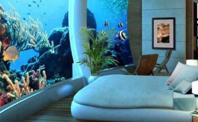 "Dans un hôtel ""underwater"""