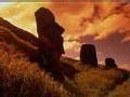 Insolite: Statues de l'île de Pâques à Londres