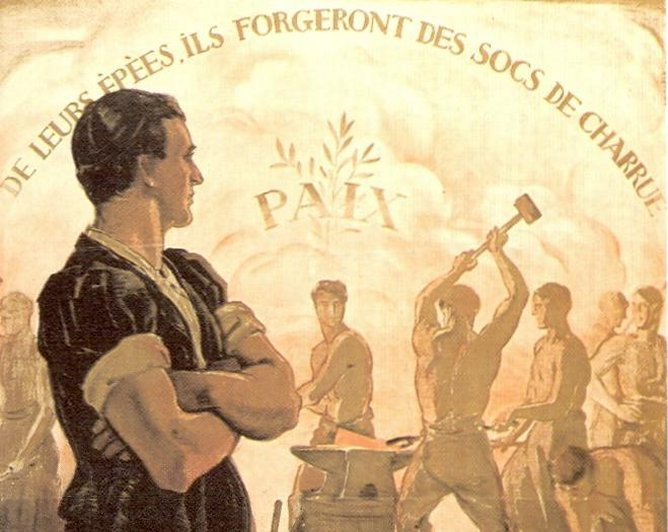 1920: campagne en faveur de la Société des nations