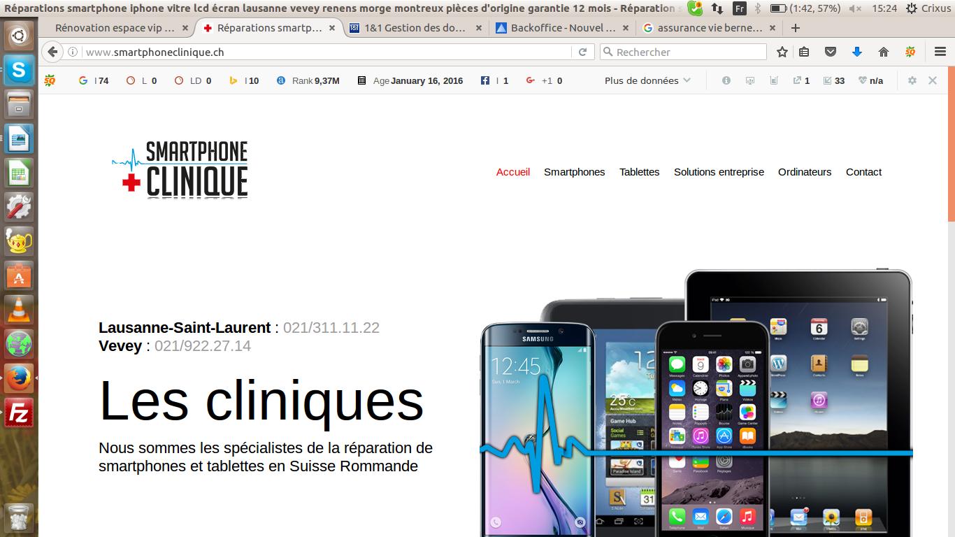 Réparation smartphone sur Lausanne