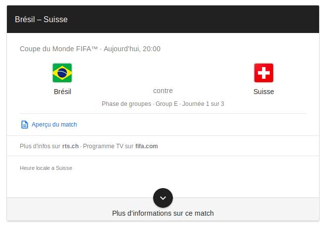 Pronostic Match Suisse Brésil