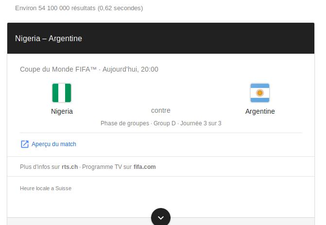 Pronostic Nigeria Argentine