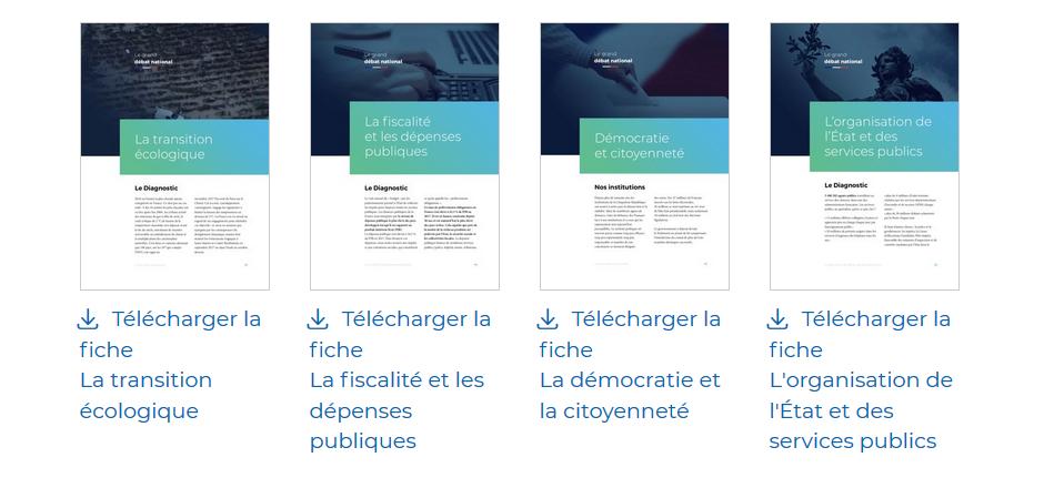 Capture du site Internet granddebat.fr