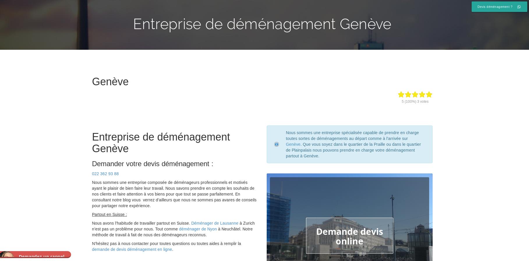Déménagement Genève