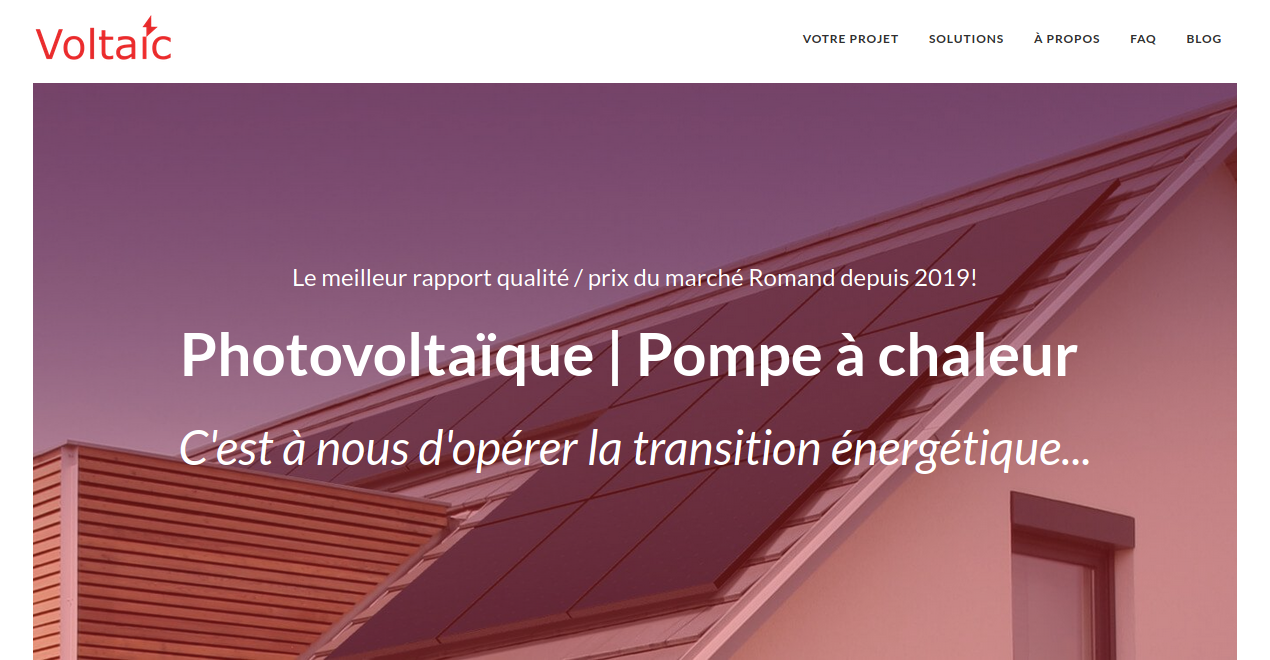 Installation panneaux photovoltaique en Suisse