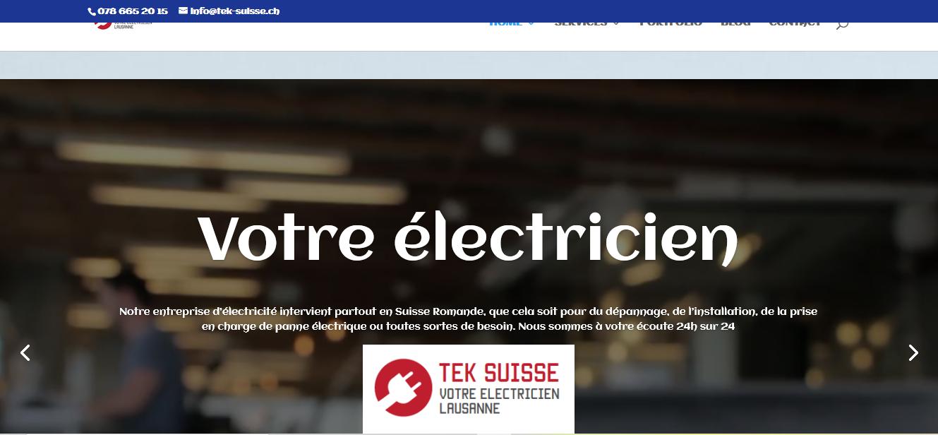 Tek Suisse électricien Lausanne