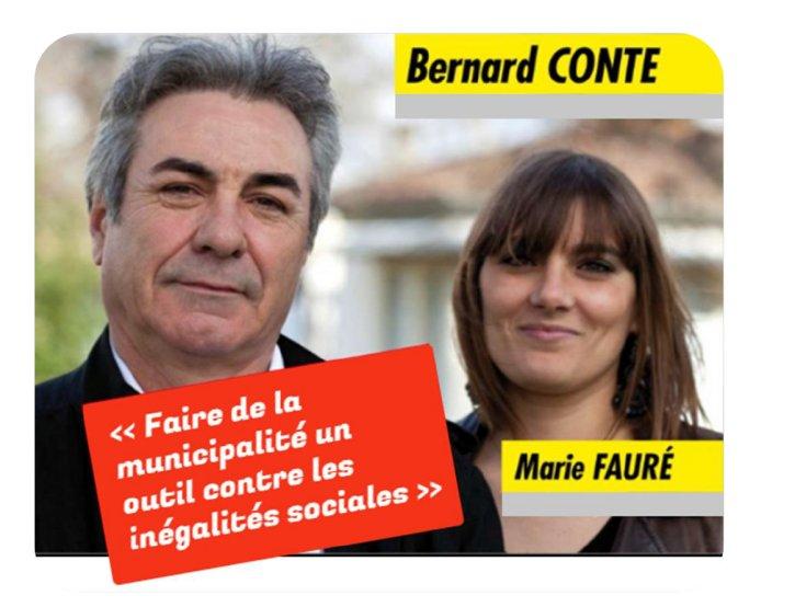 Municipales Talence 2014: B. Conte et Marie Fauré y vont!