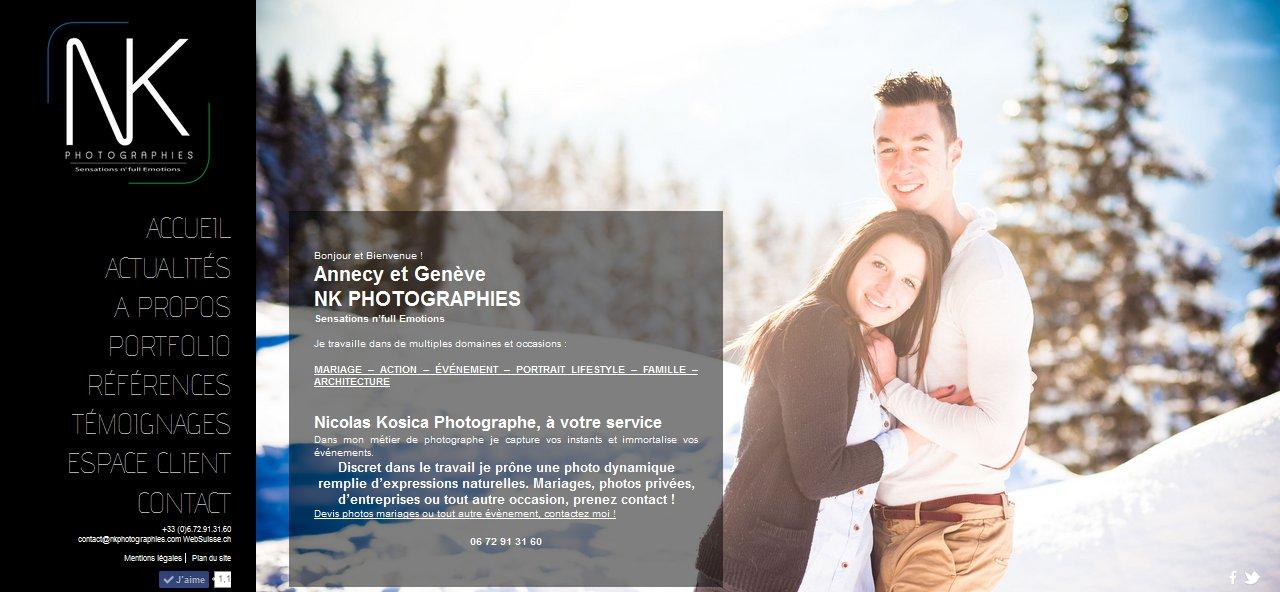 Cliquez sur l'image pour visitez la page Facebook de Nk Photographie Photographe de mariages Annecy