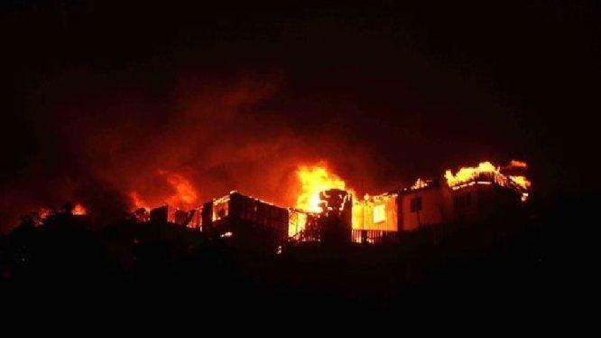 L'incendie de Valparaiso dans la presse