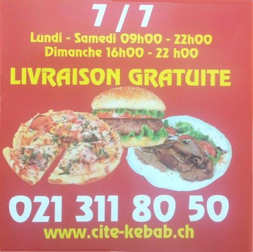 Pizza et Kebab à Lausanne en Suisse