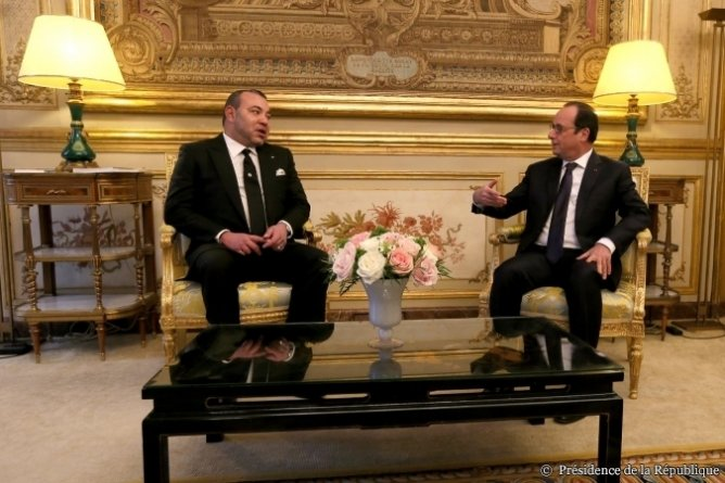 Mohamed VI en visite privée à Paris