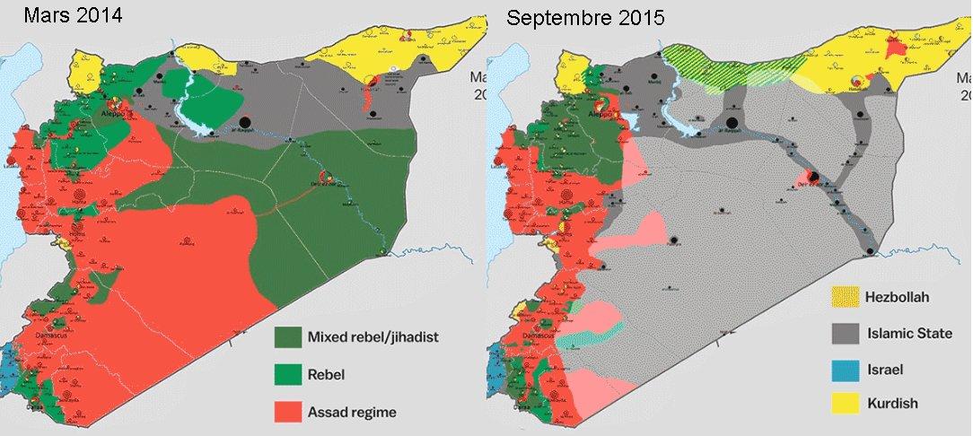 Syrie: les Russes bombardent, les Américains livrent des armes