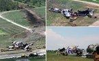 Néerlandais et américains sur le site du crash de Tripoli
