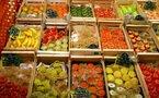 Légumes et tirs par balles