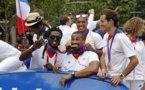 Les athlètes français acclamés sur les Champs-Elysées