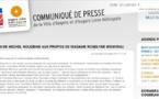 F. Béatse utilise le site Web officiel d'Angers, J.L. Rotureau s'indigne