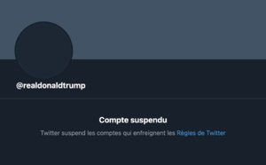 Twitter : Suspension de Donald Trump ; la réaction du président