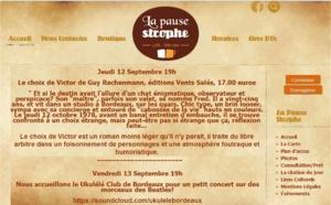 Café littéraire  LA PAUSE STROPHE Bordeaux Talence