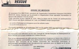 Tchad: Arche de Zoé, un document qui sème le trouble
