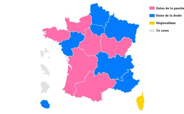 Élections régionales 2015: estimations second tour