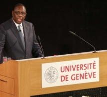 SENEGAL-SUISSE-VISITE-DISTINCTION MACKY SALL REÇOIT LE TITRE DE DOCTEUR HONORIS CAUSA DE LA GENEVA SCHOOL OF DIPLOMACY