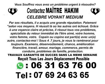 Les rituels magiques de Marabout Hakim voyant medium pour l'avenir et le futur Limoges